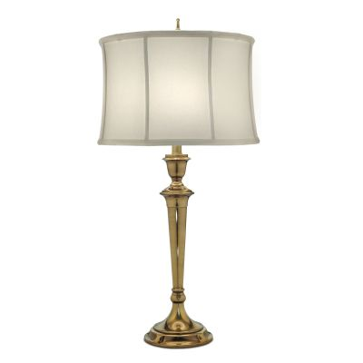 Syracuse Table Lamp in Burnished Brass complete with an Oyster Shade - STIFFEL SF/SYRACUSE BB